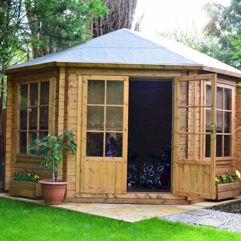 Shire Ardcastle Double Door 28mm Corner Log Cabin 10x10