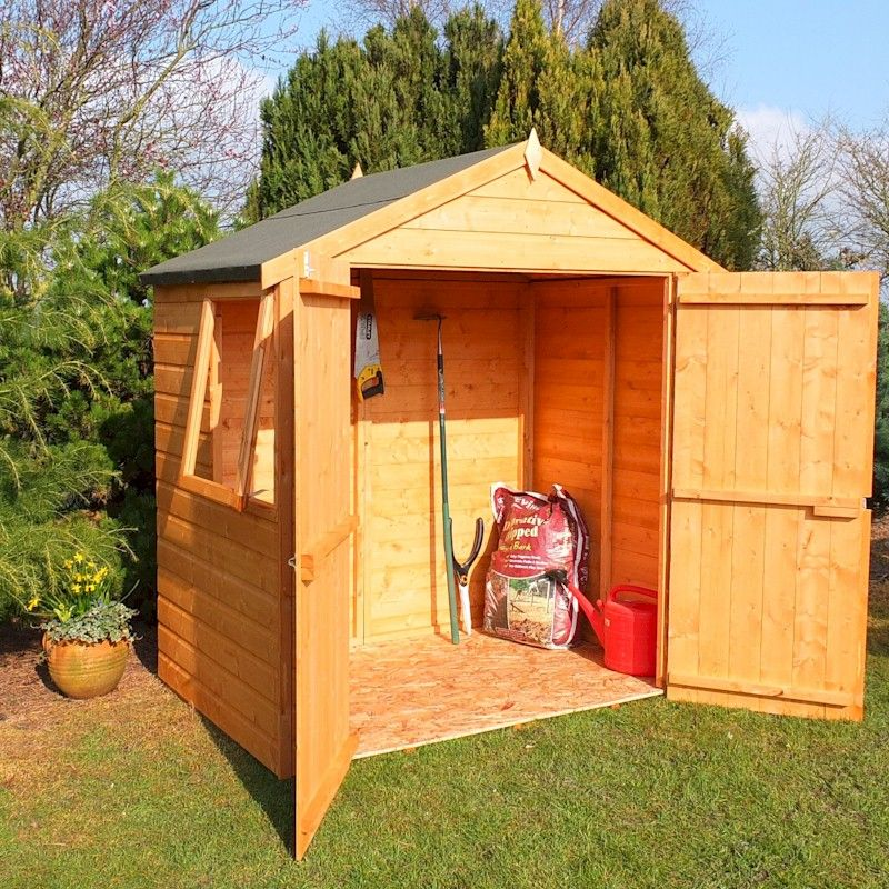Shire Bute Apex Double Door Shed 4x6