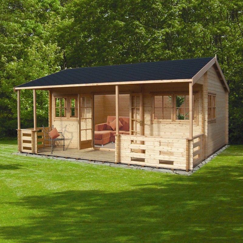 Shire Kingswood 44mm Log Cabin 18x20