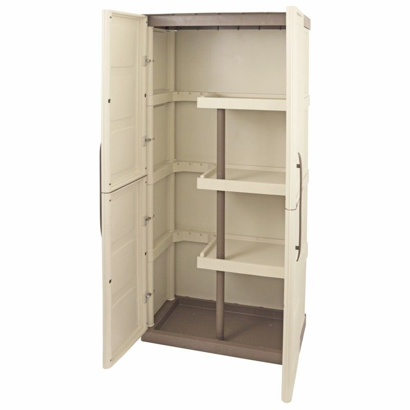Shire Large Plastic Store with Shelves and Broom Storage