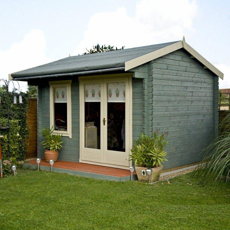 Shire Marlborough 28mm Log Cabin 8x10