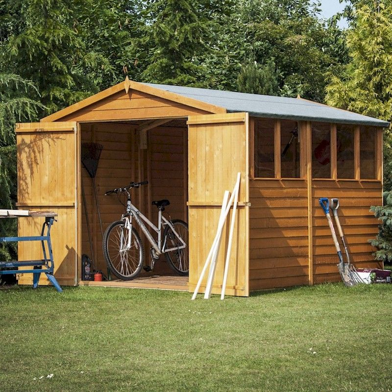 Shire Overlap Garden Shed 10x6 with Double Doors