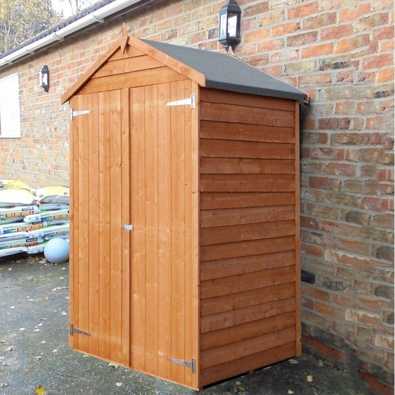 Shire Overlap Windowless Shed 4x3 with Shelves