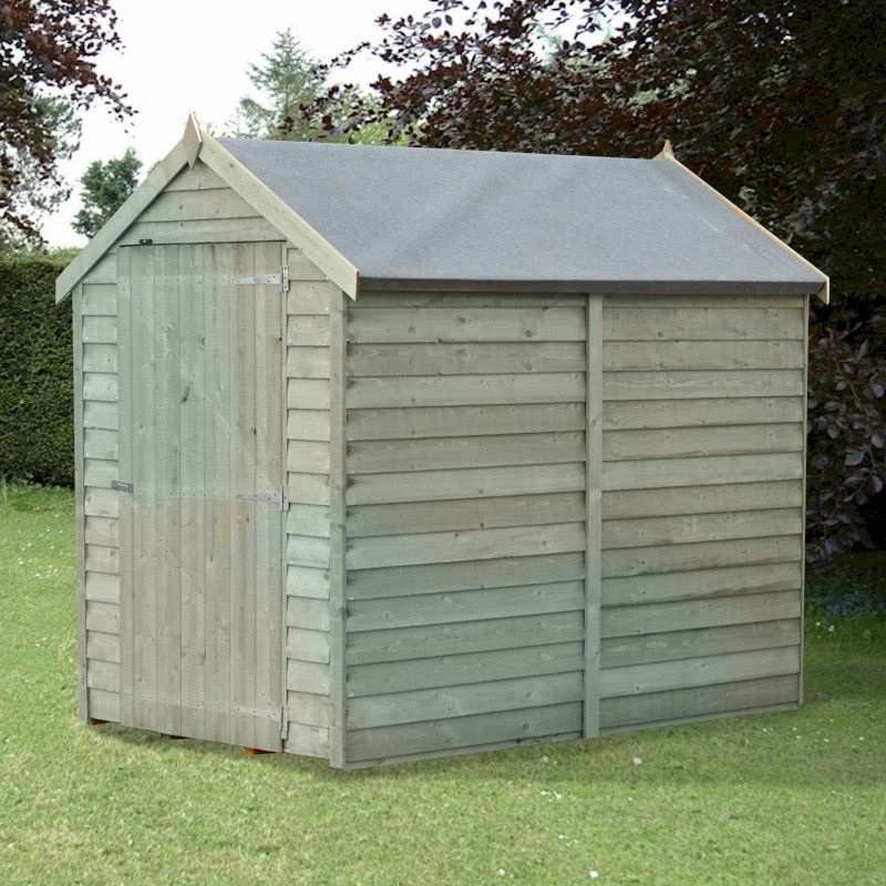 Shire Pressure Treated Value Overlap Apex Shed 6x4