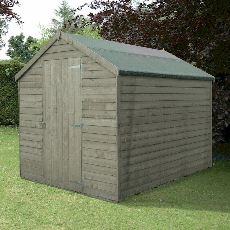 Shire Pressure Treated Value Overlap Apex Shed 7x5