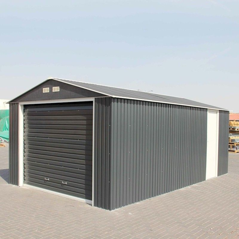 Store More Olympian Anthracite Metal Garage 12x32