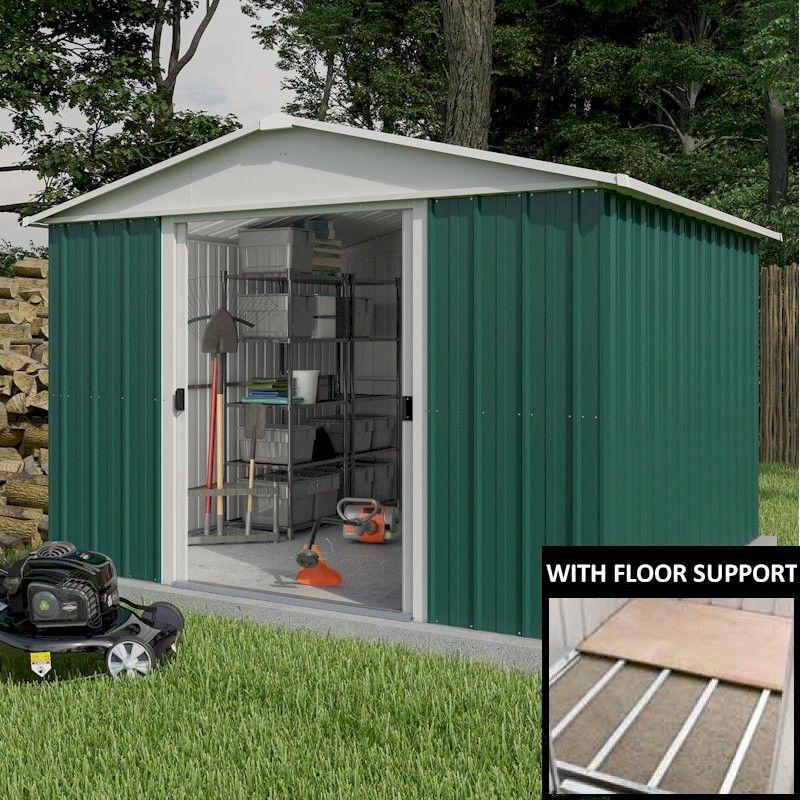 10x10 Metal Carport : Yardmaster geyz metal shed with floor support