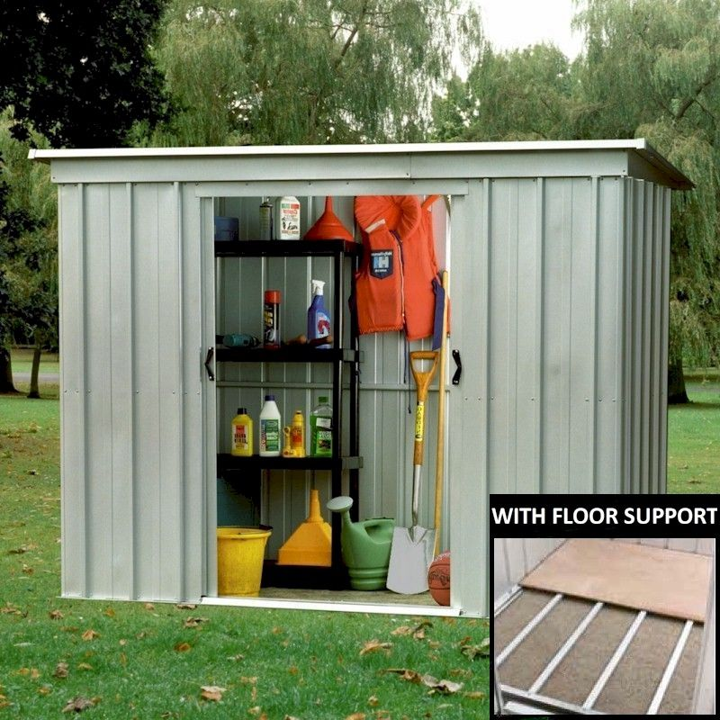 Yardmaster 64PZ Pent Metal Shed 6x4 with Floor Support Kit