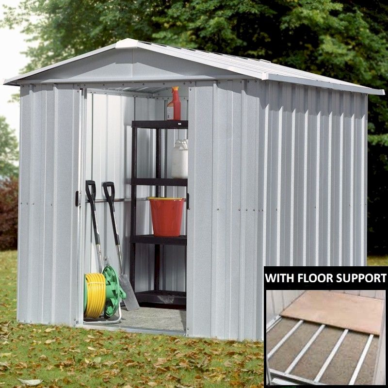 Yardmaster 65zgey Metal Shed 5x6 With Floor Support Kit