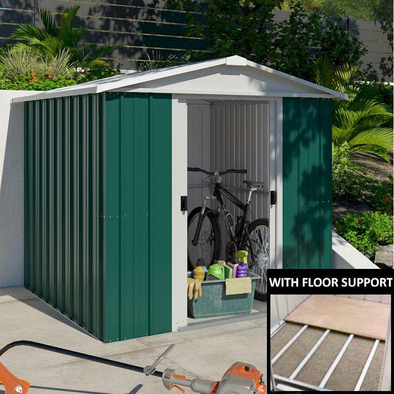 yardmaster 67geyz metal shed 7x6 with floor support kit