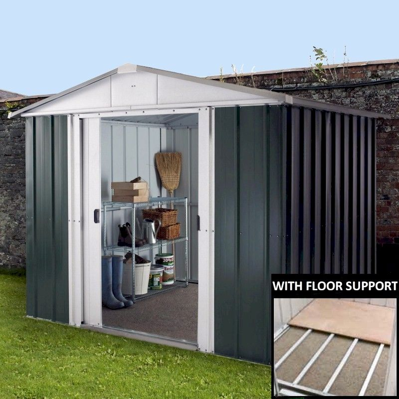 Garden Sheds 9x8 yardmaster 89geyz metal shed 9x8 with floor support kit - one garden