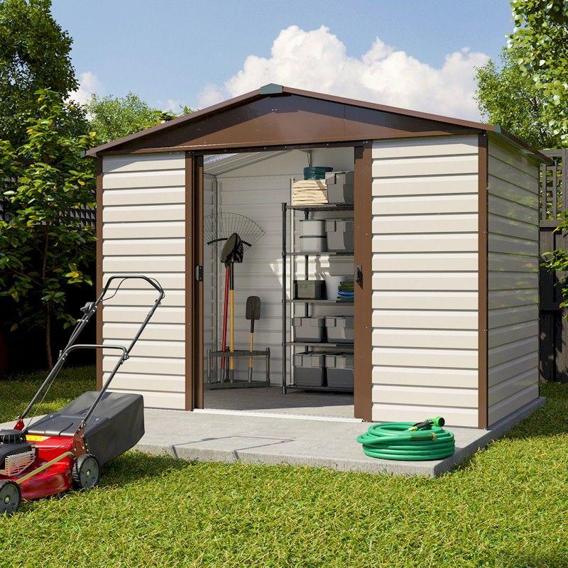 Garden Sheds 6 X 10 yardmaster shiplap 106tbsl metal shed 6x10 - one garden