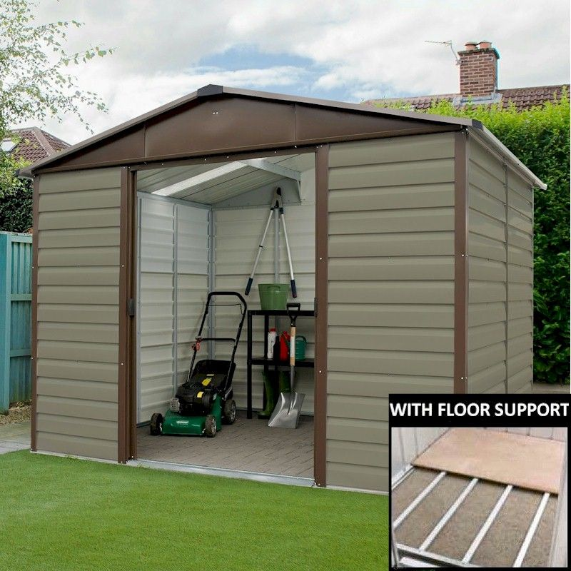 Yardmaster shiplap 108tbsl metal shed 8x10 with floor for 10 x 8 metal shed with floor