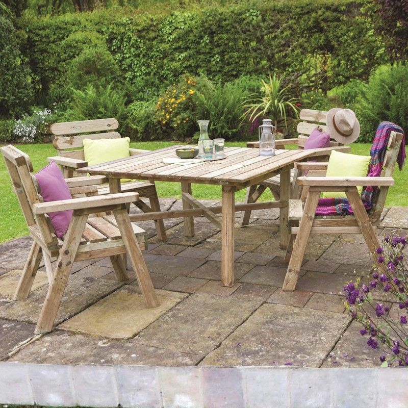 Zest Abbey Square Table and 4 Chair Set