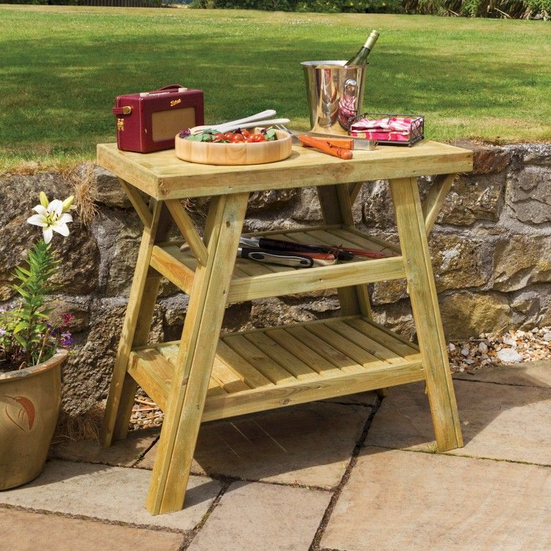 Zest bbq side table one garden - Table barbecue integre ...