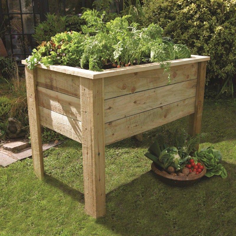 Zest deep root planter 1m one garden for Garden planters uk