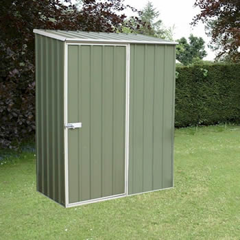 Absco Space Saver Pale Eucalyptus Metal Shed 1.52 x 0.78m image