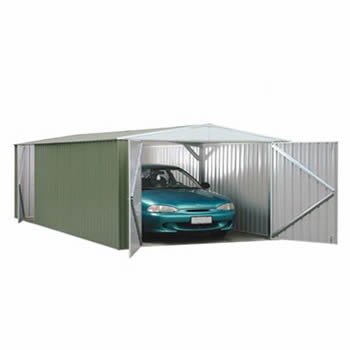 Absco Utility Workshop Garage Pale Eucalyptus 6.0 x 3.0m image