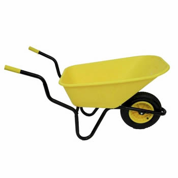 Bullbarrow Bronco Yellow Wheelbarrow image