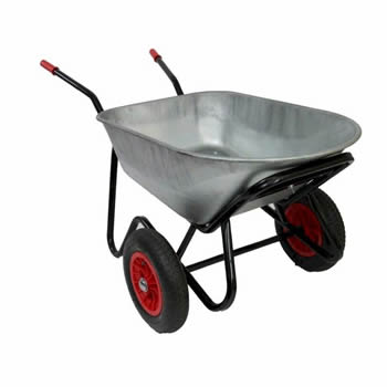 Bullbarrow Mammoth Duo Silver Wheelbarrow image
