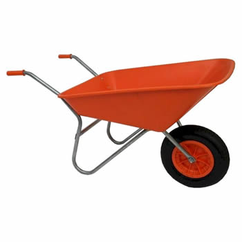 Bullbarrow Matador Orange Wheelbarrow image