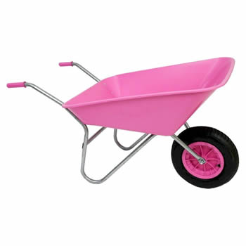 Bullbarrow Picador Pink Wheelbarrow image