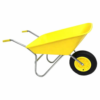 Bullbarrow Picador Yellow Wheelbarrow image