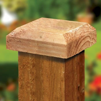Grange Heavy Duty Timber Post Cap Brown 120mm image