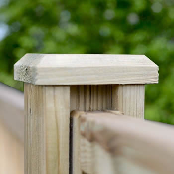 Grange Heavy Duty Timber Post Cap Green 120mm image
