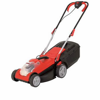 Grizzly Battery Powered Lawn Mower 34cm Cut image
