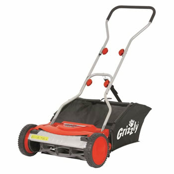 Grizzly Manual Lawn Mower 38cm Cut image