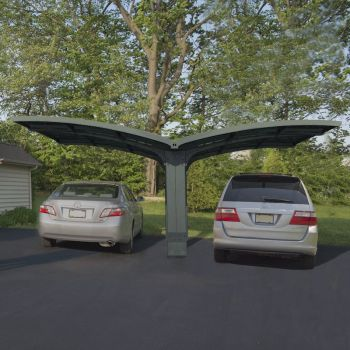 Palram Carport Arizona Double Breeze Wings and Arch image