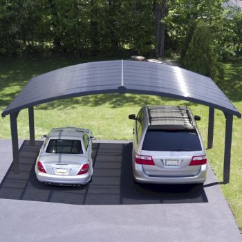 Palram Carport Arizona Double Wave Wings and Arch image