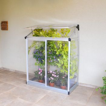 Palram Lean To Grow House 4x2 - Silver Clear image