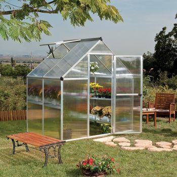 Palram Mythos 6x4 Greenhouse - Silver