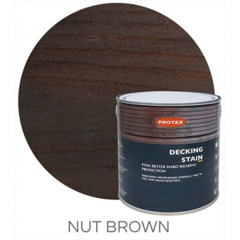 Protek Decking Stain - Nut Brown 2.5 Litre image
