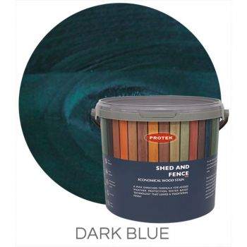 Protek Shed and Fence Stain - Dark Blue 5 Litre image