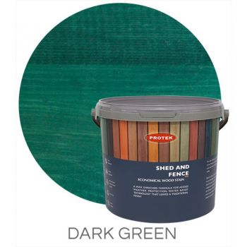 Protek Shed and Fence Stain - Dark Green 5 Litre image