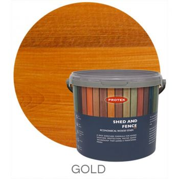 Protek Shed and Fence Stain - Gold 5 Litre image