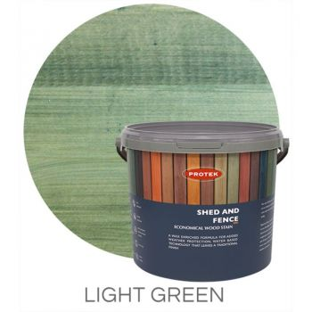 Protek Shed and Fence Stain - Light Green 5 Litre image