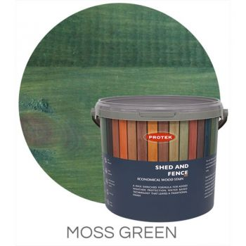 Protek Shed and Fence Stain - Moss Green 5 Litre image
