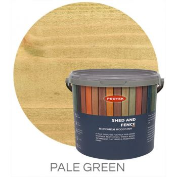 Protek Shed and Fence Stain - Pale Green 5 Litre image