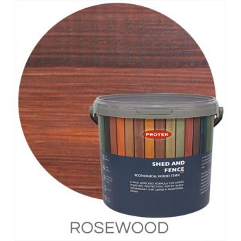 Protek Shed and Fence Stain - Rosewood 5 Litre image