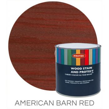Protek Wood Stain & Protector - American Barn Red 1 Litre image