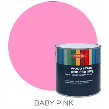 Protek Wood Stain & Protector - Baby Pink 1 Litre image