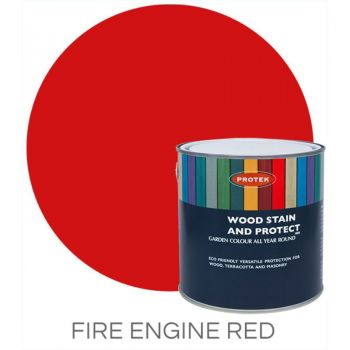 Protek Wood Stain & Protector - Fire Engine Red 1 Litre image