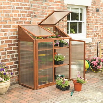 Rowlinson Hardwood Mini Greenhouse image
