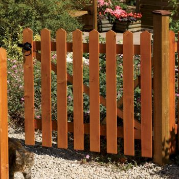 Rowlinson Picket Fence Gate 3ft x 3ft image