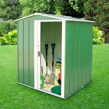 Sapphire Apex 5x4 Green Metal shed image