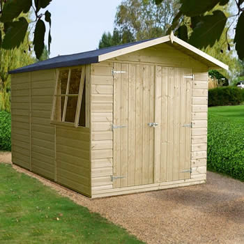 Shire Guernsey Pressure Treated Shed 10x7 image